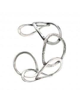 925 Sterling Silver Rigid Circles Bracelet