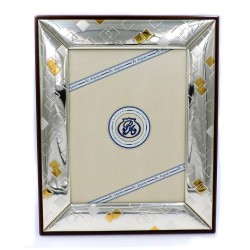 Silver Picture Frame Glossy Gold Rhombus cm 18 x 24