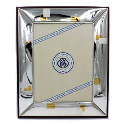 Silver Picture Frame Glossy Gold Squares cm 18 x 24