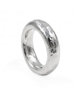 Hammered 925 Sterling Silver Ring