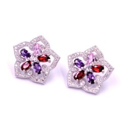 925 Sterling Silver Flowers Earrings