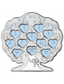 Tree Shaped Baby Boy Picture Frame 12 Months