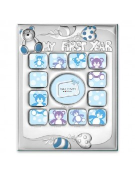 My First Year Multi Picture Frame For Baby Boys