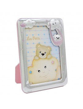 Clouds and Teddy Bear Silver Picture Frame 3,5x5