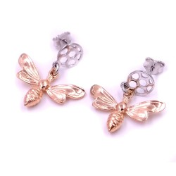 925 Sterling Silver Bee Earrings