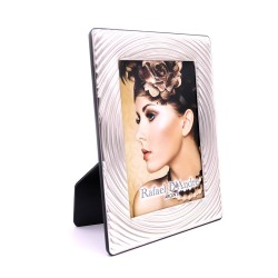 Silver Picture Frame Glossy Concentric Circles 5 x 7