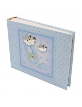 Blue Photo Album with Baby Bear and Clouds 6x8