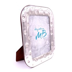 Silver Picture Frame Glossy Bottons cm 18 x 24