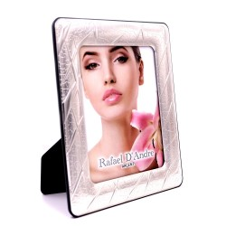 Silver Picture Frame Glossy Scratches Effect cm 13 x 18
