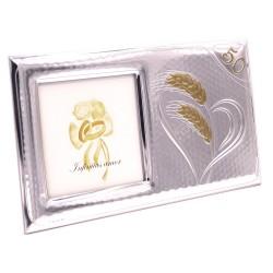 Cornice Portafoto 50° Anniversario di Matrimonio cm 10x10 in Argento
