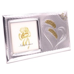 Silver Picture Frame 50th Anniversary Glossy Corn Photo Size cm 10x10