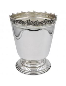 Solid Silver Champagne Bucket Grape Edge
