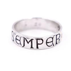Sterling Silver Semper Fidelis Ring