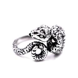 800 Sterling Silver Snake Ring