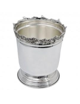 Solid Silver Ice Bucket Grape Edge