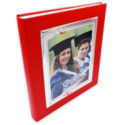 Photo Album Graduation with Silver Cover Frame 7 x 9