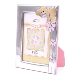 Silver Picture Frame 3,5 x 5 Baby Bear with Flowers