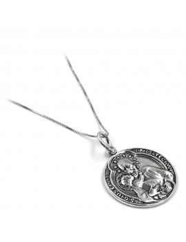 Saint Joseph Sterling Silver Necklace