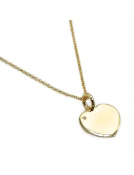 Customizable Gold Plated 925 Sterling Silver Heart Necklace with Diamond