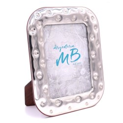 Silver Picture Frame Glossy Bottons cm 13 x 18