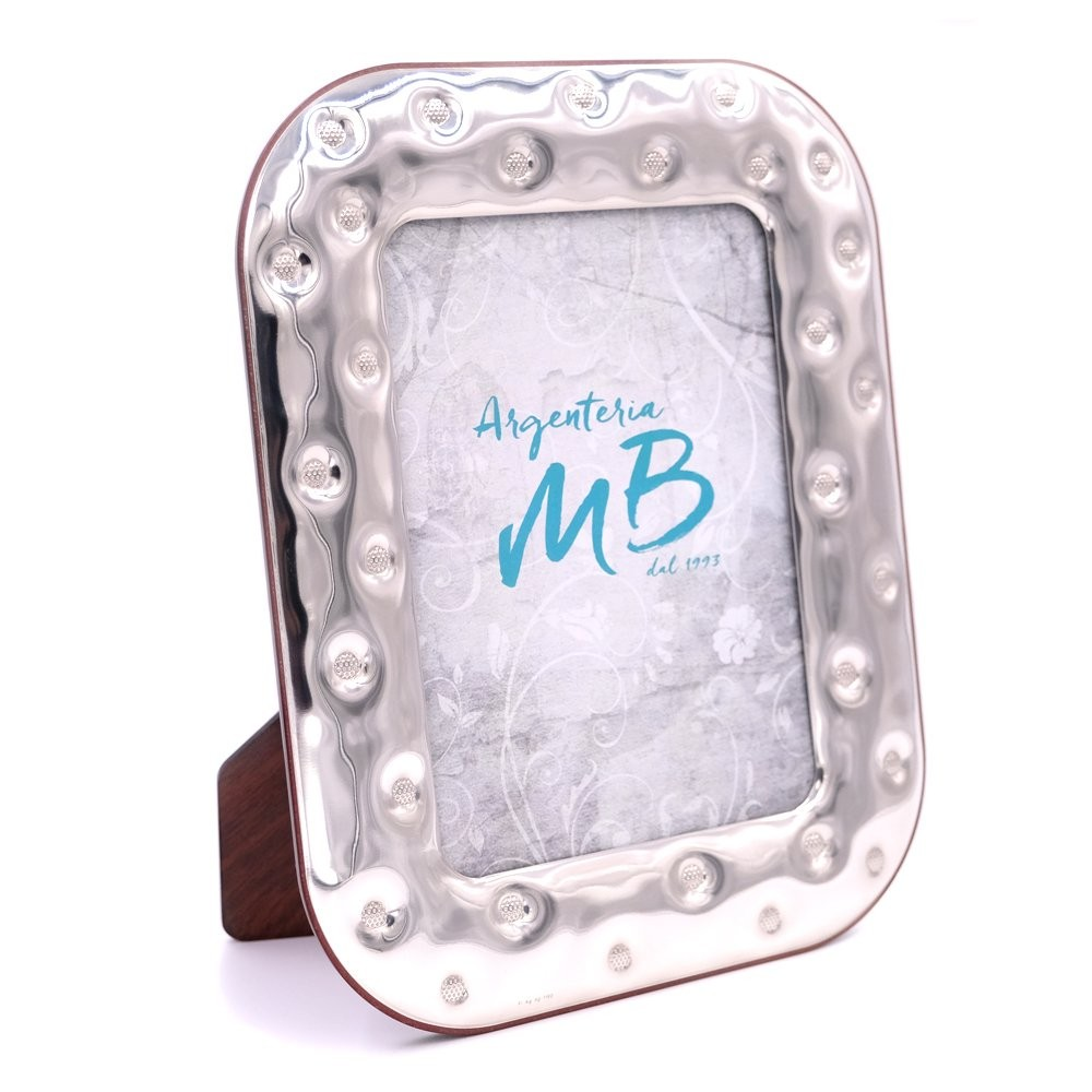 Silver Picture Frame Glossy Bottons cm 13 x 18 - M.B. Argenti di ...