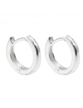 925 Sterling Silver Mini Hoop Earrings Diameter 0,47''