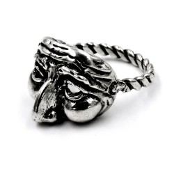 Solid Silver Mask Ring