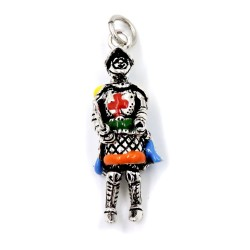 Solid Silver Sicilian String Puppet Pendant
