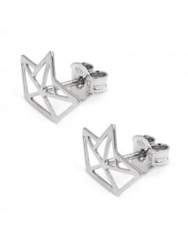 Origami Earrings 925 Sterling Silver