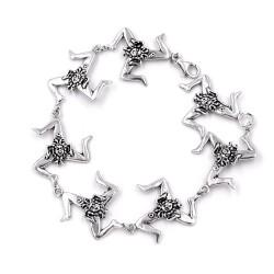 Solid Silver Sicilian Trinacria Bracelet
