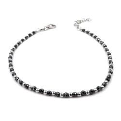 925 Sterling Silver Bracelet with Hematite Stone