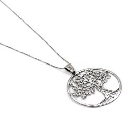 Collana Veneziana con Ciondolo Albero della Vita in Argento 925