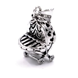 800 Sterling Silver Buggy Bell Pendant