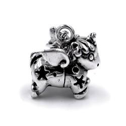 Ciondolo Unicorno in Argento 800