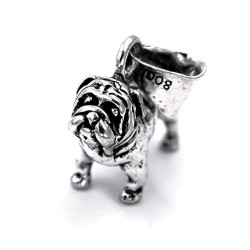 800 Sterling Silver British Bulldog Pendant