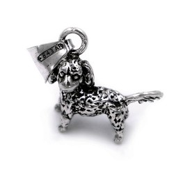 800 Sterling Silver Poodle Pendant
