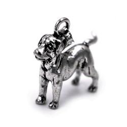 Ciondolo Cane Labrador in Argento 800