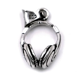 800 Sterling Silver Headphones Pendant