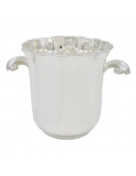 Solid Silver Ice Bucket with Shell Handles