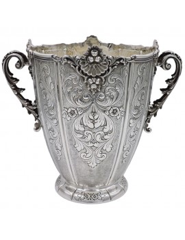 Baroque Chiseled 925 Sterling Silver Champagne Bucket