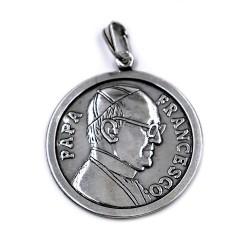 Sterling Silver Pope Francesco Pendant Medal
