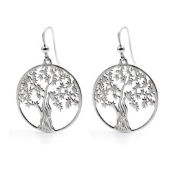 925 Sterling Silver Tree of Life Pendant Earrings