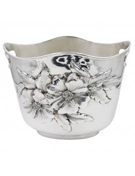 Chiseled 925 Sterling Silver Champagne Bucket Flowers