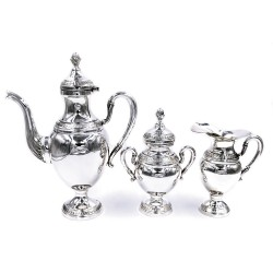 Italian Solid Silver Coffee Set Empire Style 3 Pieces