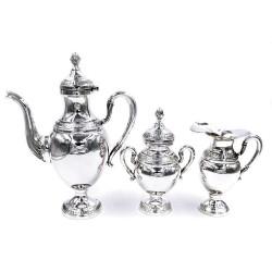 Servizio da Caffè in Argento 800 Stile Impero Tre Pezzi