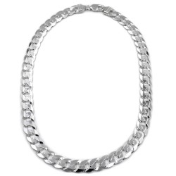 925 Sterling Silver Massive Curb Necklace