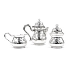 Italian Solid Silver English Style 3 Pieces Coffee Set