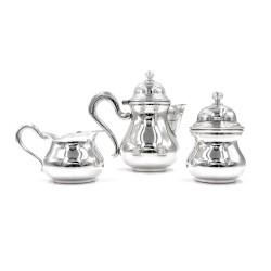 Servizio da Caffè in Argento 800 Stile Inglese Tre Pezzi