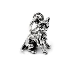 Ciondolo Cane Chihuahua in Argento 800