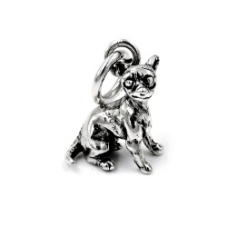 Solid Silver Chihuahua Pendant